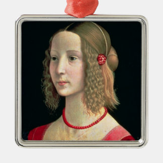 女の子のポートレート、c.1490 メタルオーナメント
