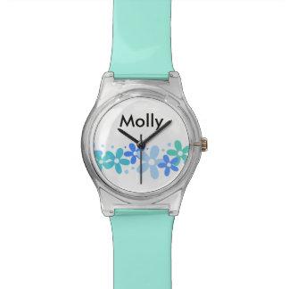 女の子のモノグラムのファッション 腕時計