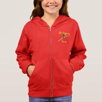 女の子のリズミカルな体操はインスパイアフリースのフード付きスウェットシャツです スウェットシャツ