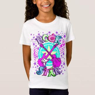 女の子のロックスターのワイシャツ Tシャツ