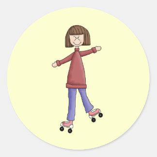 女の子のローラースケート ラウンドシール