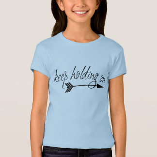 女の子のワイシャツの把握を保って下さい Tシャツ