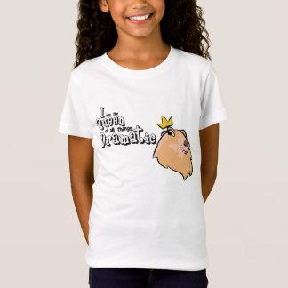 女の子のワイシャツ-劇的なホリネズミ Tシャツ