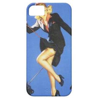 女の子の上のヴィンテージいけなく女性黒いPin iPhone SE/5/5s ケース