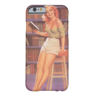 女の子の上のヴィンテージのNerdie Pin Barely There iPhone 6 ケース