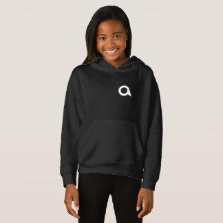女の子の不可解なフリースのプルオーバーのフード付きスウェットシャツ
