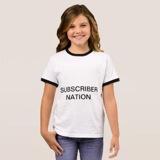 女の子の信号器の契約者の国家のTシャツ リンガーTシャツ