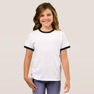 女の子の信号器のTシャツ リンガーTシャツ