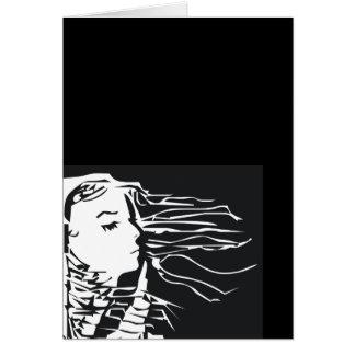 女の子の側面 カード