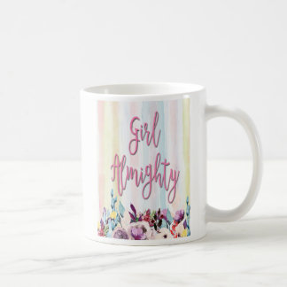 女の子の全能の神、強い女性、引用文 コーヒーマグカップ