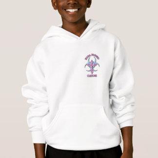 女の子の危険なフード付きスウェットシャツ