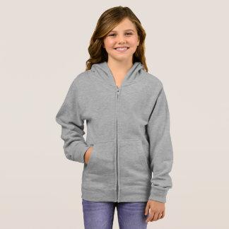 女の子の基本的なジッパーのフード付きスウェットシャツ パーカ