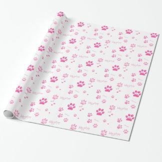 女の子の子犬の包装紙 ラッピングペーパー