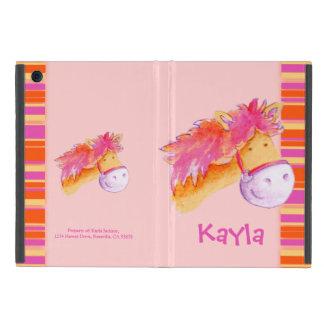 女の子の子馬のピンクの芸術の名前のipadの場合をからかいます iPad mini ケース