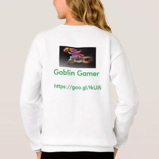 女の子の小悪魔のゲーマーのセーター スウェットシャツ