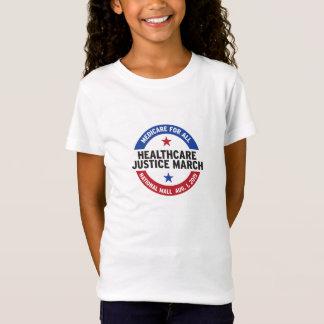 女の子の帽子の袖のTシャツ Tシャツ