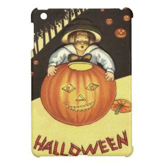 女の子の微笑のジャックOのランタンのカボチャ iPad MINI カバー