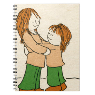 女の子の抱擁 ノートブック