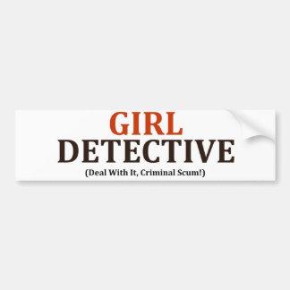 女の子の探偵(それの刑事浮きかすの取り引き!) バンパーステッカー