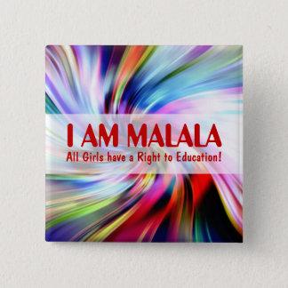 女の子の教育のためのMalala日 5.1cm 正方形バッジ