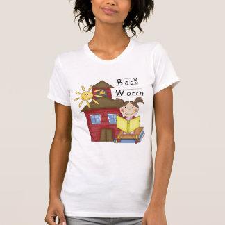 女の子の本みみずのTシャツおよびギフト Tシャツ