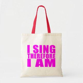 女の子の歌手: 従って私は私をあります歌います トートバッグ