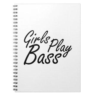 女の子の演劇の低音の黒い文字 ノートブック