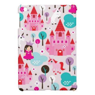 女の子の王女の城およびユニコーンのiphoneの場合 iPad miniケース
