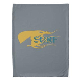 女の子の監視波のアートワークの羽毛布団 掛け布団カバー