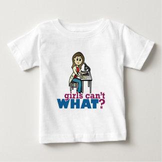 女の子の科学者 ベビーTシャツ