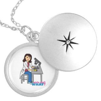 女の子の科学者-媒体 ロケットネックレス