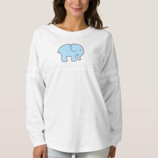 女の子の空色象の長袖のワイシャツ スピリットジャージー