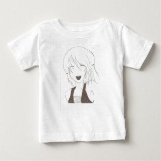 女の子の笑うこと ベビーTシャツ