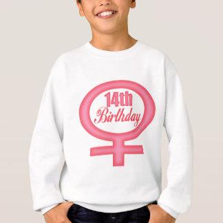 女の子の第14誕生日プレゼント スウェットシャツ