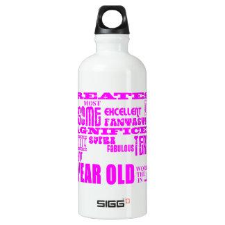 女の子の第51誕生日: ピンクの最も素晴らしい50 1つ ウォーターボトル