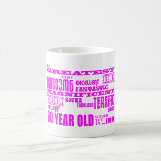 女の子の第60誕生日: ピンクのすばらしい60歳 コーヒーマグカップ