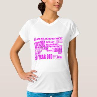 女の子の第60誕生日: ピンクのすばらしい60歳 Tシャツ