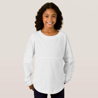 女の子の精神のジャージーのワイシャツ ジャージーTシャツ