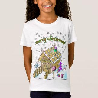 女の子の素晴らしいジャージーのTシャツ、メリークリスマス Tシャツ