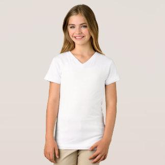 女の子の素晴らしいジャージーのV首のTシャツ Tシャツ