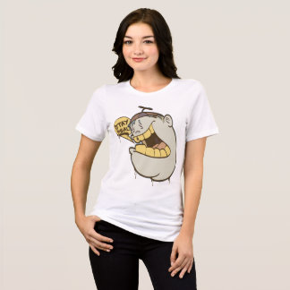 女の子の落書き: 滞在の実質のキャラクターStreetwear Tシャツ