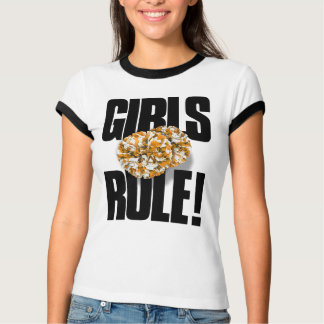 女の子の規則! チアリーダーをすること Tシャツ