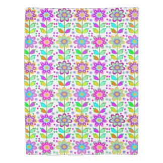 女の子の部屋、よくはしゃぐな花パターン 掛け布団カバー