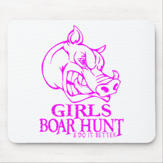 女の子の雄豚の狩り マウスパッド