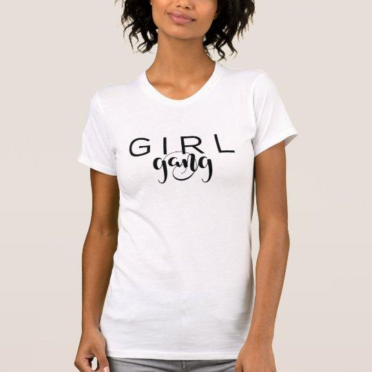 女の子の集団の粋な女の子の黒い原稿のカスタム Tシャツ