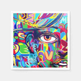 女の子の顔のカクテルの紙ナプキン スタンダードカクテルナプキン
