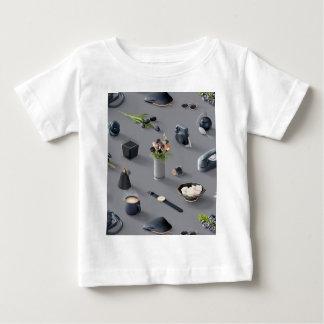 女の子の黒い夢 ベビーTシャツ