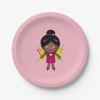女の子の黒い妖精の紙皿 ペーパープレート
