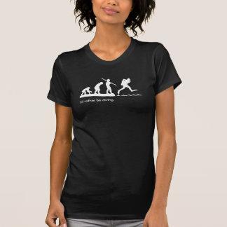 """女の子の""""私はむしろ潜水の""""スキューバダイビングのTシャツです Tシャツ"""