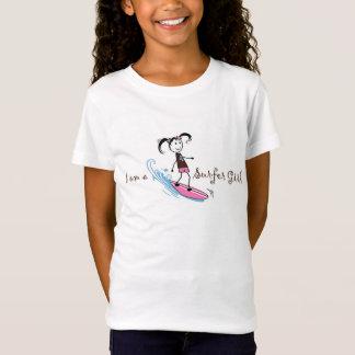 """女の子の""""私は波の女の子""""のTシャツです Tシャツ"""